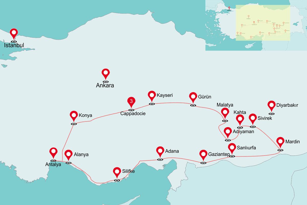 Rondreis Primitief Turkije